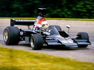 Danny Ongais in the Interscope Lola T332C at Mid-Ohio in 1976. Copyright Richard Deming  2016. Used with permission.