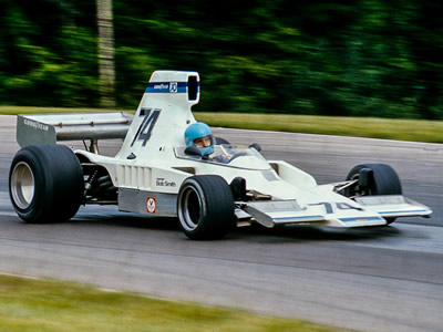 Richard Shirey in the Bob Smith-run Lola T332C at Mid-Ohio in 1976. Copyright Richard Deming 2016. Used with permission.