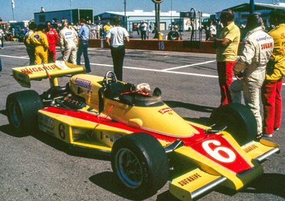 Wally Dallenbach's 'Ol Hound' McLaren M24 at Michigan in 1978. Copyright Richard Deming 2016. Used with permission.