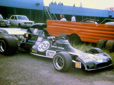 David Oxton's Begg FM5 rests in the paddock at the July 1973 Mallory Park race.  Copyright Stuart Dent 2004.  Used with permission.