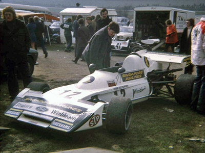 Vern Schuppan in his Falconer-bodied March 722 at Mallory Park in 1973. Copyright Stuart Dent  2006. Used with permission.