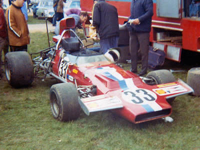 The VDS McLaren M18/M22 at Mallory Park in March 1972.  Copyright Stuart Dent 2004.  Used with permission.