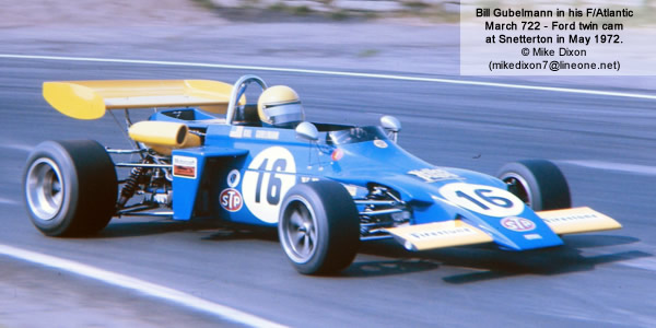 Bill Gubelmann in his championship-winning March 722 at Snetterton in May 1972.  Copyright Mike Dixon 2012.  Used with permission.