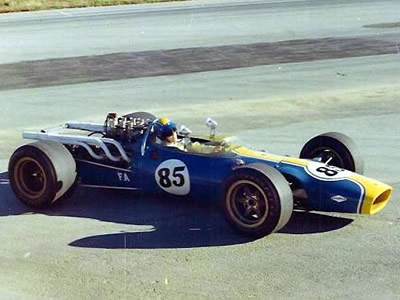 Lotus 38/8 as as raced by Frank Eggers in 1968. Copyright Frank Eggers  2009. Used with permission.