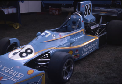 The immaculate Thursdays March 75A at Brands Hatch in 1975. Copyright Dr Brian S Ellis  2008. Used with permission.