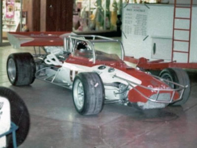 Marv Carman's supermodified Eagle on show around 1973. Copyright Jerry Entin  2009. Used with permission.