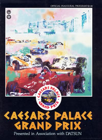 Caesers Palace 1981 program Cover