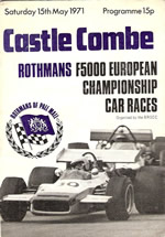 Castle Combe 15 May 1971 rogram cover