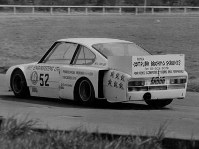 Jim Evans in the Skoda-bodied Chevron in 1977. Copyright Richard Evans 2009 . Used with permission.