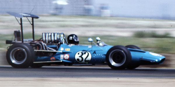 The very first F5000 Surtees was raced in west coast SCCA events during 1970. Judging by the helmet, Lou Sell is the driver here. Copyright Ted Walker (Ferret Fotographics) 2012. Used with permission.