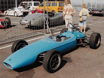 A Brabham BT10 with chassis plate 'F2-9-64' in the paddock at the Oldtimer Grand Prix in the 1980s. Copyright Ted Walker 2019. Used with permission.