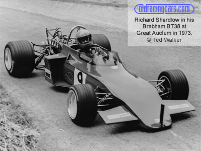 Richard Shardlow in his Brabham BT38 at Great Auclum in 1973. Copyright Ted Walker 2019. Used with permission.