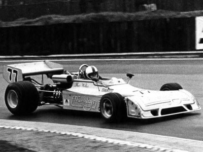 Dave Walker in B28-74-02 at Brands Hatch in March 1975.  Copyright Ted Walker 2001.  Used with permission.
