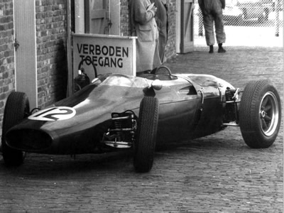 "Cooper T53 ""VR"" in the paddock at the 1961 Dutch GP. Copyright Ted Walker (Ferret Fotographics) 2001. Used with permission."