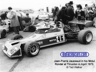 Jean-Pierre Jaussaud in his Motul Rondel at Thruxton in April 1973. Copyright Ted Walker  2019. Used with permission.