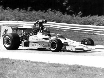 Tony Settember in his T330 at Road America 1974.  Copyright Ted Walker 2001.  Used with permission.
