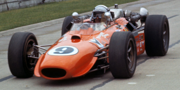 Al Miller in the Morris during qualifying for the 1968 Indianapolis 500. Copyright First Turn Productions LLC  2019. Used with permission.