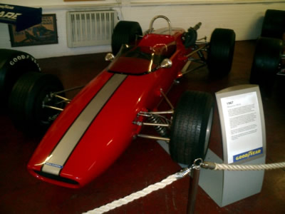Chassis '200-17' in the Donington Museum in 2009. Copyright Tony Gallagher 2009. Used with permission.