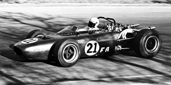 Joe Starkey's Can-Am-based Formula A car at  Green Valley in February 1968.  Copyright Jack Easterly 2006.  Used with permission.