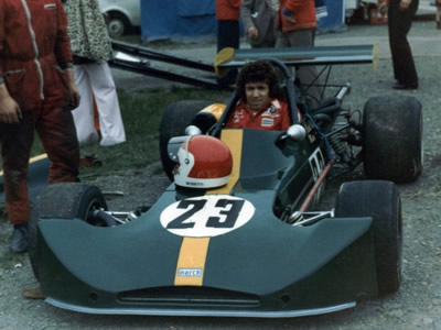 Val Musetti in his March 73B at Mallory Park in June 1974. Copyright Rich Harman 2009. Used with permission.