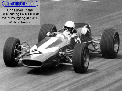 Chris Irwin in the 