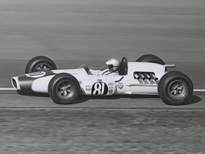 Pete Salemi's 1965 G. C. Murphy Gerhardt at the Speedway in 1965.  Part of the Dave Friedman collection. Licenced by The Henry Ford under Creative Commons licence Attribution-NonCommercial-NoDerivs 2.0 Generic. Original image has been cropped.