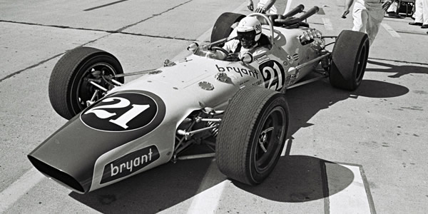 Cale Yarborough in the #21 Vollstedt during practice at the 1967 Indy 500. Part of the Dave Friedman collection. Licenced by The Henry Ford under Creative Commons licence Attribution-NonCommercial-NoDerivs 2.0 Generic. Original image has been cropped.