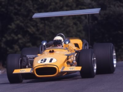 Eppie Wietzes in his Lola T142 at Mosport in August 1969. Copyright Thomas Horat  2011. Used with permission.
