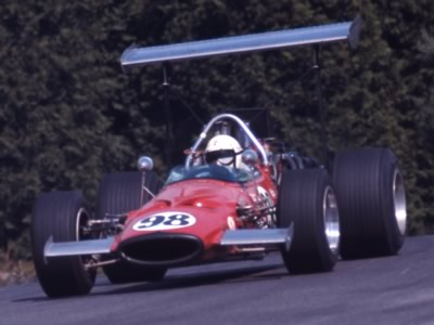George Eaton in his McLaren M10A at Mosport Park in 1969. Copyright Thomas Horat  2011. Used with permission.