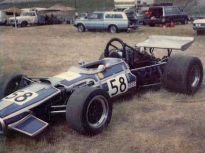 John Raecker's Lola T140 at Continental Divide Raceway in June 1981. Copyright Lee Huls  2011. Used with permission.