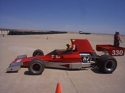 Lee Huls' Lola T330 at La Junta in June 2002. Copyright Lee Huls 2004. Used with permission.