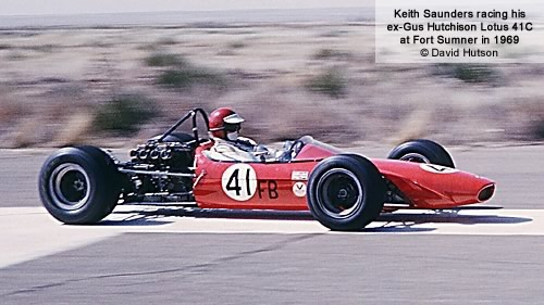 Keith Saunders continued to race his ex-Hutchison Lotus 41C in Southwest Div racing in 1969.  Copyright David Hutson 2011.  Used with permission.