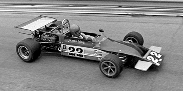 James King in his March 71BM at Lake Garnett in 1972. Copyright David Hutson 2009.  Used with permission.