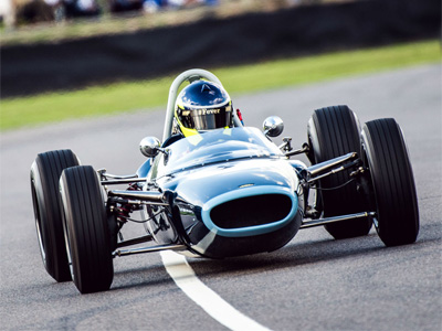 Ben Mitchell racing the ex-Rob Shanahan's Lola T60 at Goodwood in 2018. Copyright William I'Anson Ltd  2019. Used with permission.