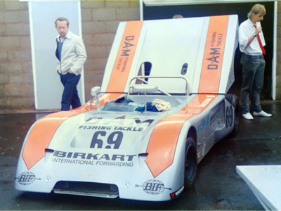 Chris Aylett's Chevron B19 at Silverstone in June 1985. Copyright Jeremy Jackson 2009. Used with permission.