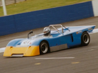 John Burton in his Chevron B19 at Silverstone in July 1993. Copyright Jeremy Jackson 2009. Used with permission.