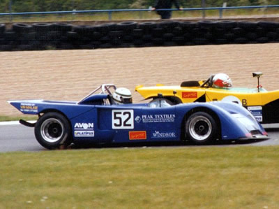 Mike Wrigley in his Chevron B19 at Donington Park in May 1995. Copyright Jeremy Jackson 2009. Used with permission.