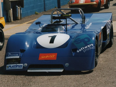 Paul Ingram's Chevron B19 at Donington Park in May 1997. Copyright Jeremy Jackson 2009. Used with permission.