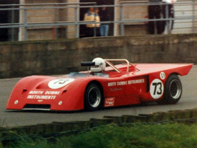 Tony Gordon's Chevron B19 at Silverstone in September 1985. Copyright Jeremy Jackson 2009. Used with permission.
