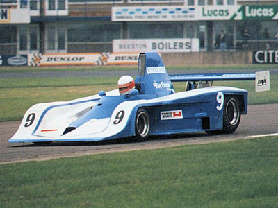 Colin Pool in the Frissbee at Donington Park in 1987.  Copyright Jeremy Jackson.  Used with permission.