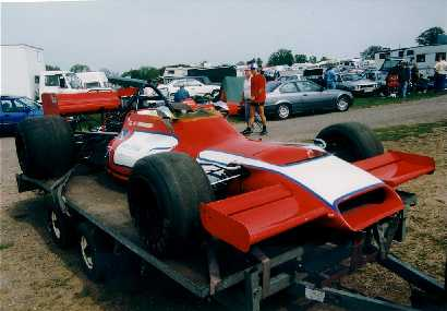 McRae GM1 014 in the paddock at Mallory Park 2 May 1994. Copyright Jeremy Jackson  2003. Used with permission.