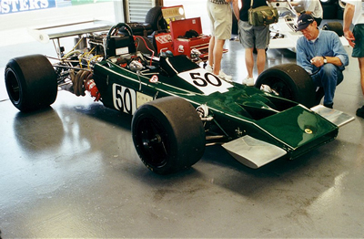 Helmut Dango's Lotus 70 at Silverstone in July 2000. Copyright Jeremy Jackson  2003. Used with permission.