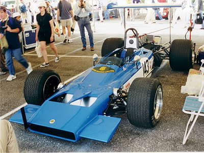 Richard Drewett's Lotus 70 at Goodwood in 1999. Copyright Jeremy Jackson  2003. Used with permission.