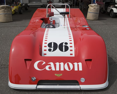 Miles Jackson's Chevron B19 restored to Canon livery in 2009. Copyright Miles Jackson 2009. Used with permission.