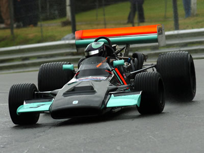 Ian Jacobs in the restored Leda LT25 at Brands Hatch in 2007. Copyright Ian Jacobs  2007. Used with permission.