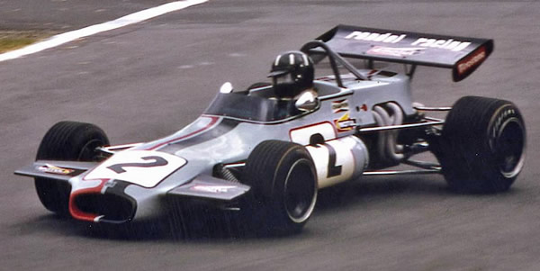Graham Hill approaching South Tower at Crystal Palace in 1971. Copyright Steve Jupp  2006. Used with permission.