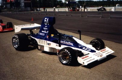 Steve Simpson's Lola T332, maybe HU35, in 1999.  Copyright Wolfgang Klopfer 1999.  Used with permission.