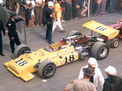 Swede Savage's Brabham BT32 at Pocono in July 1972. Copyright Jim Knerr 2020. Used with permission.