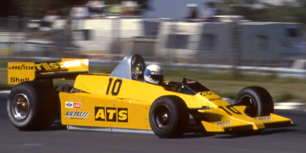 Keke Rosberg in the second ATS D1 during practice at the 1978 US Grand Prix. Copyright Philip Kozloff 2017. Used with permission.