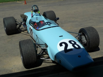Damon Hancock's Brabham BT23C at Wakefield Park in 2013. Copyright Spencer Lambert 2015. Used with permission.